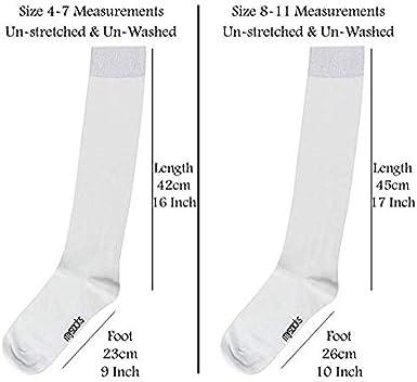 Mysocks 3 Pairs Calcetines altos unisex hasta la rodilla con algod/ón peinado extrafino