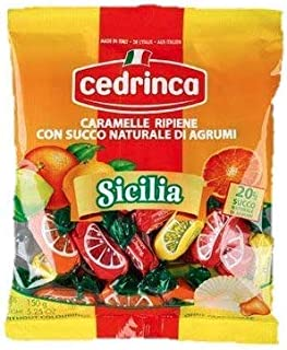 Cedrinca Sicilia Candies 5.25 ounces bags (12)