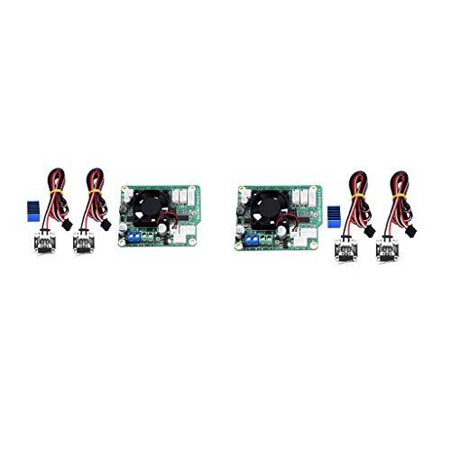 IPOTCH 2Pcs NanoDLP Expansion Board+2Piece Heatsink + 4Pieces Limit Switch