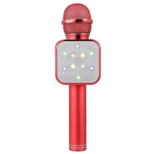 Bobin MicróFono de Mano InaláMbrico Altavoz MicróFonos LED Rojos para Maestros en LíNea NiiOs NiiOs