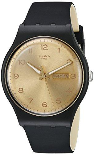 Swatch Unisex Digital Quarz Uhr mit Silikon Armband SUOB716
