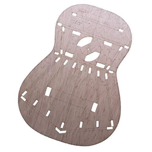 SDENSHI Modelos de Estructura de Cuerpo de Guitarra Clásica Sólida para Torres para Luthier, Guitarra de Construcción, Bricolaje