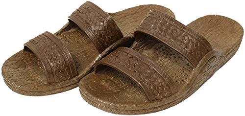 Pali Hawaii Unisex Adult Classic Jandal Sandal (Brown, 9)