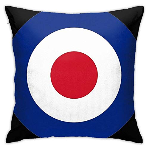 FETEAM RAF Roundel Throw Pillow Covers Decoración del hogar Soft Square Throw Pillow Case for Bed Couch Sofa Farmhouse Cushion Cover Ambos Lados