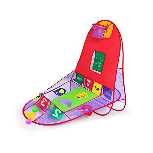 Tienda de campaña desplegable 3 en 1 Playhouse, canasta de baloncesto para tiro, para interiores y exteriores, portátil, plegable