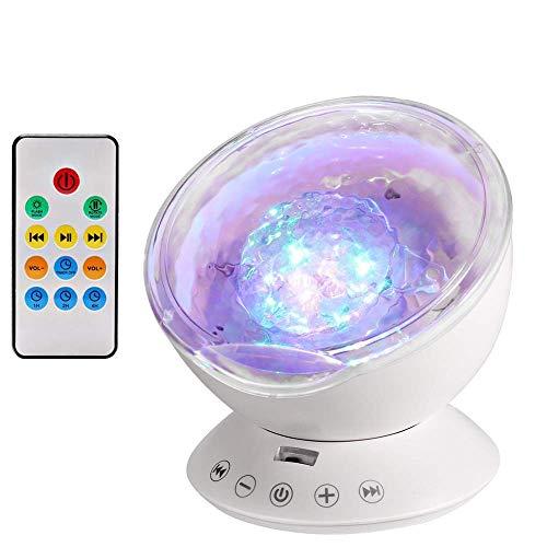 Lámpara Proyector, Proyector de Luz Océano Nocturna para 12 LED y 7