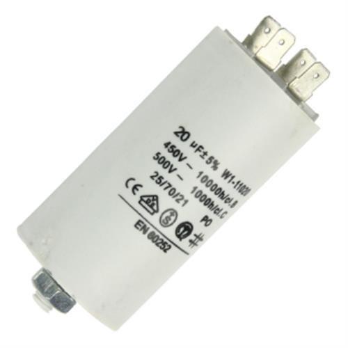 Fixapart W1-11020N Anlaufkondensator Betriebskondensator 20uF 20µF mit STECKER