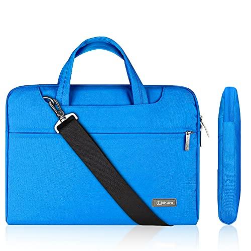 Qishare 11,6'' 12'' Laptoptasche multifunktionale Laptoptasche für Damen Herren Schüler, Verstellbarer Schultergurt & unterdrückter Handgriff, tragbarer Dokumentenordner (11,6-12-Zoll Blau)