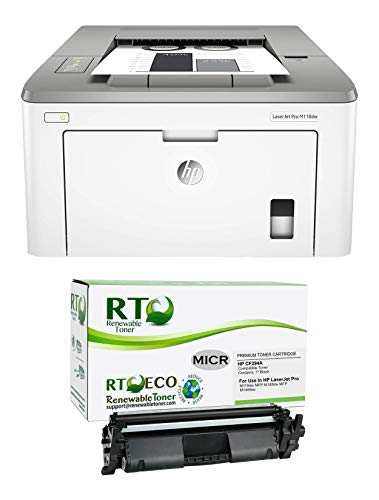 Renewable Toner Laserjet Pro M118dw Check Printing Bundle with CF294A 94A Modified MICR Toner Cartridge (Pack of 2)