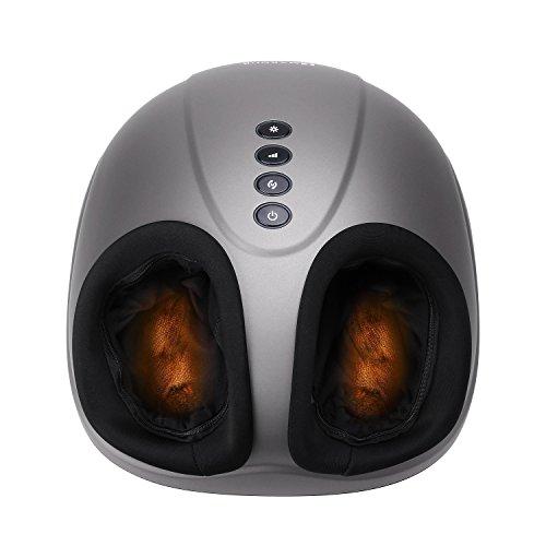 MARNUR Shiatsu-Fußmassagegerät, elektrisch, tiefes Kneten mit Wärmerollung und Luftkompression, für Zuhause und Büro