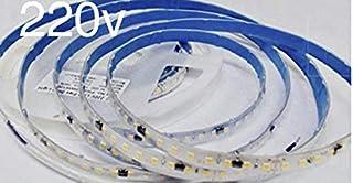 Rollo de 5 metros de Tira de Luz LED Directa a 220v con conectores. Color Blanco Frio (6500K). Impermeable. Corte cada 10cm. A++