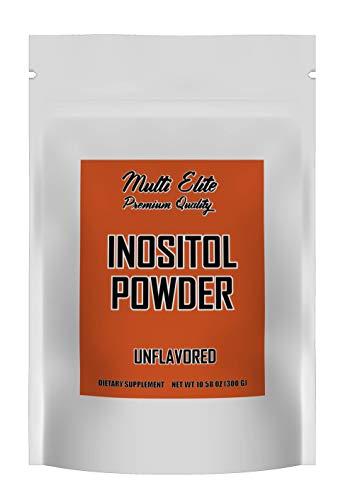 Inositol Powder, PCOS Supplement, Pure Myo Inositol Form, 300 Gram Bag by Multi Elite Premium Quality.