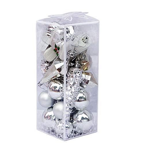 Nouveau KAEMINGK Arbre de Noël décoration Boules incassable 60 mm PK 30 Pearl