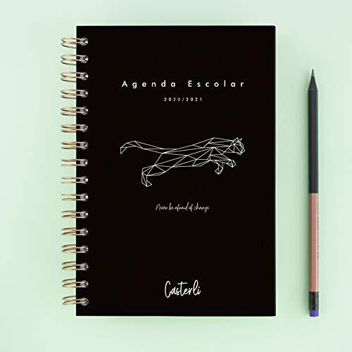 Casterli - Colección Tiger - Agenda Escolar 2020-20210, Día Página, Tamaño A5