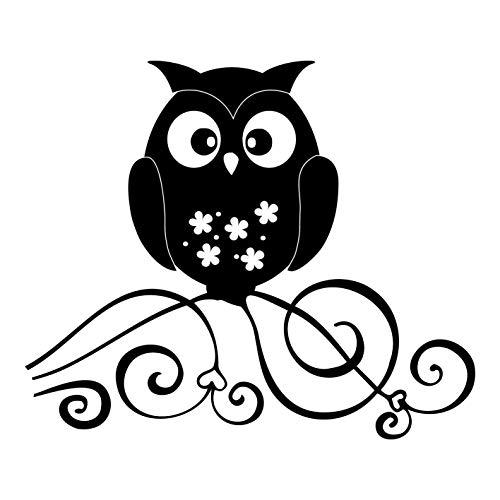 kleb-Drauf | 1 Eule | Schwarz - matt | Autoaufkleber Autosticker Decal Aufkleber Sticker | Auto Car Motorrad Fahrrad Roller Bike | Deko Wrapping Tuning Styling Stickerbomb