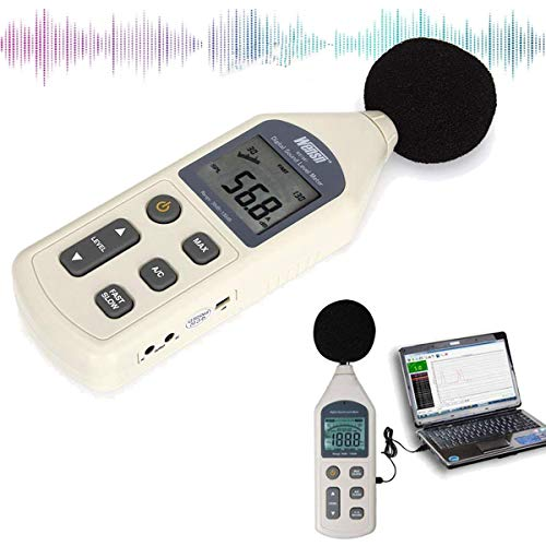 Lychee Professionelle Digitale Schallpegelmesser Schallpegelmessgerät Messung Range 30-130 dB mit LCD Display Hinterbeleuchtung