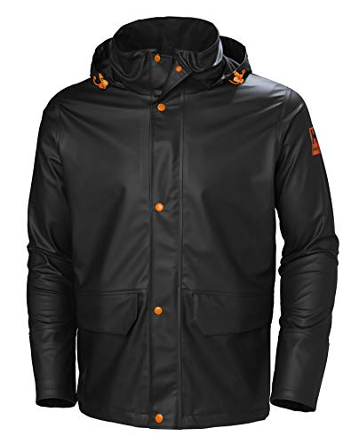 Helly-Hansen Workwear Men's Gale Rain Jacket, Black - Large