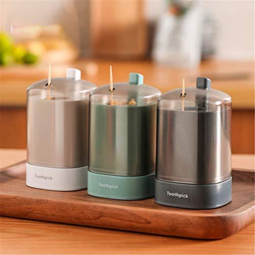 Automatische Zahnstocherhalterbox vom Push-Typ Abnehmbarer Zahnstocher-Aufbewahrungsspender Tragbarer Pop-up-Zahnstocherbehälter für Küchenzubehör für das Restaurant zu Hause (Zufällig (2PCS))