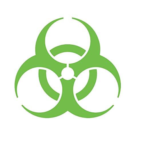 CRDesign Biohazard Danger Warning Sign Sticker Decal Bio Hazard for Car Truck SUV Bumper Window Zombie (Lime Green)