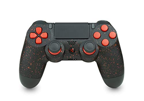 KING CONTROLLER PS4 - Custom Schwarz Rot Design - DualShock 4 - PlayStation 4 Pro - Wireless PS4-Controller