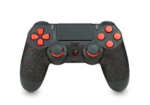 KING CONTROLLER PS4 - Custom Schwarz Rot Design - DualShock 4 - PlayStation 4 Pro - Wireless PS4-Controller