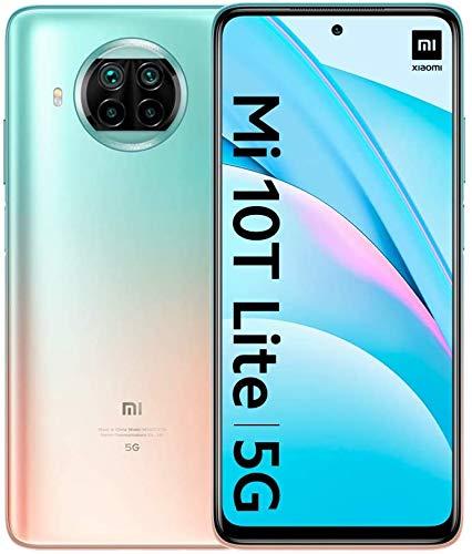 "Xiaomi Mi 10T Lite 5G - Smartphone 6+128GB, 6,67"" FHD+ DotDisplay, Snapdragon 750G, Cámara cuádruple de 64 MP con IA, 4820 mAh, Rose Gold Beach (Versión oficial), con Alexa Hands-Free"