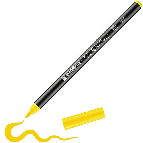 edding Porzellan-Pinselstift edding 4200, 1-4 mm, gelb