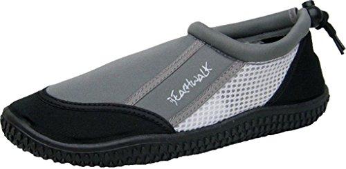 Bockstiegel Herren Neoprenschuhe Amrum Surfschuhe Wasserschuhe, Farbe:grau, Größe:44 EU