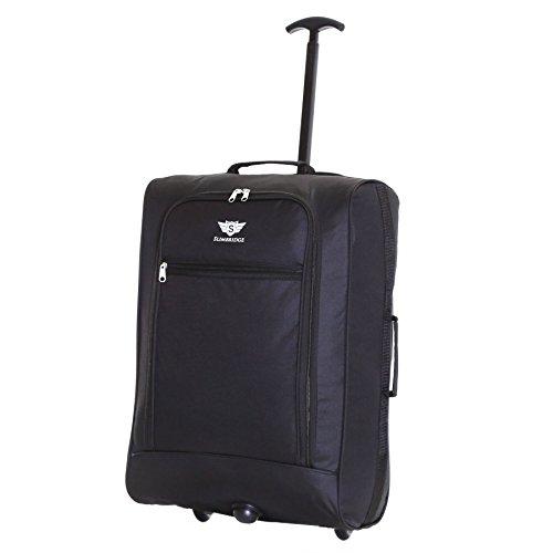 Slimbridge Leichtgewicht Handgepäck Trolley Koffer Bordgepäck Reisekoffer Superleicht Gepäck mit Rollen - 55 cm 1,4 kg 38 Liter auf 2 Rädern, Montecorto Schwarz
