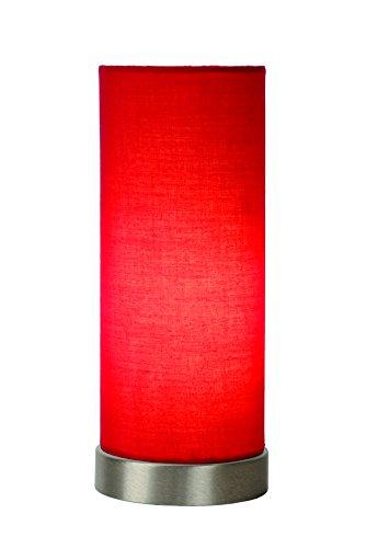 Lucide Lámpara de mesa E14, 40 W, rojo, ø 10,5 cm x 25,5 cm