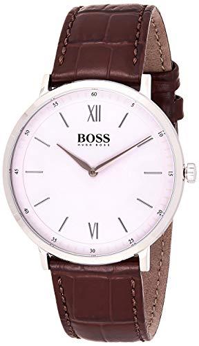 Hugo Boss Herren Analog Quarz Uhr mit Leder Armband 1513646