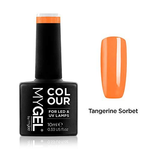 Mygel by Mylee Gel-Nagellack, 10 ml, Tangerine Sorbet, UV/LED, Soak-Off, Maniküre, Pediküre, für den professionellen Gebrauch und den Heimgebrauch, Gelb / Orange