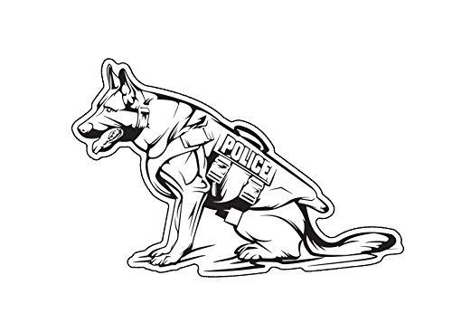 WickedGoodz Police K9 Vinyl Decal - Dog Bumper Sticker - Shepherd Breed Mom Decal