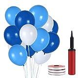 120 Piezas Azul Globos Latex Perla,Globos Azules de Fiesta únicos,Globos de Boda, Decoraciones de Cumpleaños Para Fiestas,Cumpleaños,Navidad, Bodas en 3 Colores