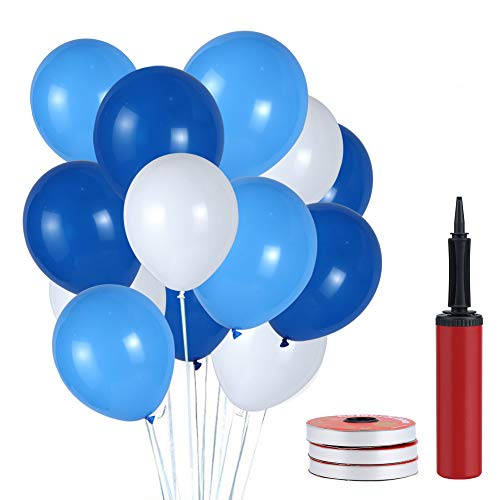Pomisty Latex Luftballons Blau,120 Stück Party Luftballons, Hochzeit Luftballons Geburtstag Dekorationen für Party Geburtstags Weihnachten, Hochzeit in 3 Farben