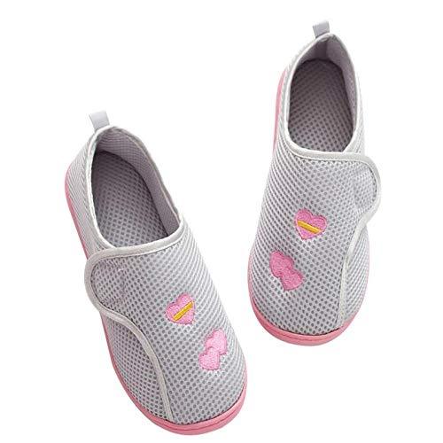Grote maat zwaarlijvige voet diabetes schoenen,Postpartum tas hiel zachte bodem slippers, plus size antislip dikke bodem moederschap schoenen-40_gray,Diabetische wandelschoenen voor heren Ademende