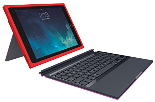 Logitech Blok 9.7Zoll Blatt Rot, Violett - Tablet-Schutzhüllen (24,6 cm (9.7 Zoll), Blatt, Rot, Violett, Apple, iPad Air 2, 184,5 mm)