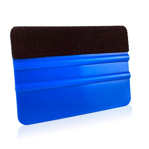 Motoscale Folienrakel mit Filzkante, Rakel, Filzrakel, Kunststoffrakel, Verkleberakel - Verklebung von Folie, Fliesenaufklebern, Fensterfolie, Autofolierung