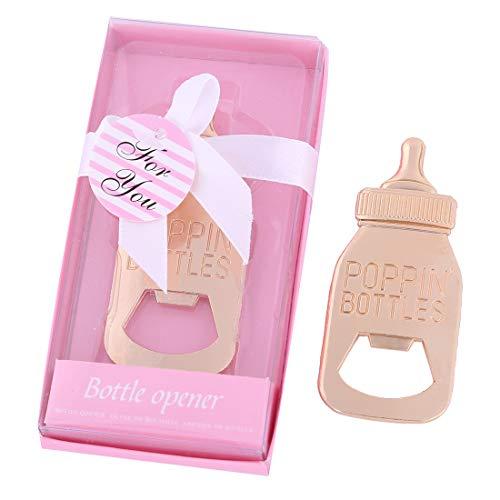 24 pz Baby Shower ritorno regali per gli ospiti forniture Poppin biberon a forma di bottiglia apribottiglie bomboniera con squisita confezione regalo regalo decorazioni da WeddParty (24 pezzi)