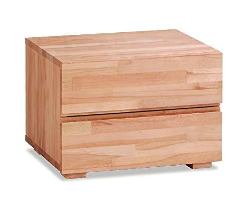 Hasena Wood Line Nachttisch Dupla Kernbuche Natur 2 Schubladen