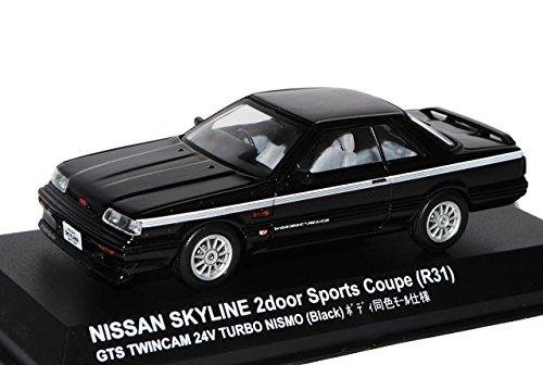 Kyosho Nissan Skyline R31 Schwarz GTS Twincam Nismo Turbo 1985-1989 1/43 Modell Auto
