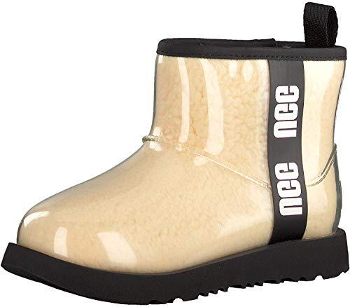 UGG Kids' Classic Clear Mini Ii Boot, Natural / Black, Size 6