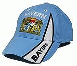 Fanshop Lünen Basecap Cap mit Stick Bayern Kappe Baseballcap Kappe Mütze Schrift Fahne blau Wappen