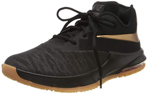 Nike Herren AIR MAX Infuriate III Low Basketballschuh, Nero Black MTLC Copper Thunder Grey Gum Med Brown 009, 42 EU