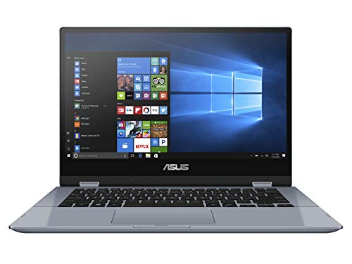 "ASUS Vivobook Flip 14 TP412FA, Notebook con Monitor 14"" Glare Touch-screen, Intel Core i3-8145U, RAM 8GB, 256GB SSD PCIE, Windows 10 Home S, Celeste Argento"