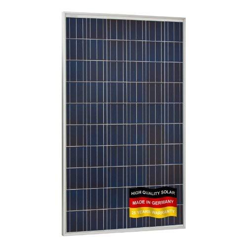 260W Panel Solar para autocaravanas, caravanas, Camper, Barco, hogar o Red de alimentación (Fabricado en Alemania)