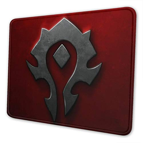 World Warcraft Horde Mouse Pad Non-Slip Waterproof Foldable Rubber Base Gaming Mouse Pad for Desktop Computers Laptop Office Home & More Mouse Pads 10x12 in