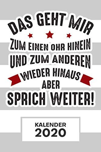 KALENDER 2020: A5 Witze Terminplaner für Ignorant mit DATUM - 52 Kalenderwochen für Termine & To-Do Listen - Witz Terminkalender Motto Jahreskalender Lustige Zitate