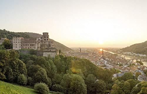 1000 Piezas Puzzle  Atardecer de Heidelberg  Rompecabezas para niños Adultos Juego Creativo Rompecabezas Navidad decoración del hogar Regalo