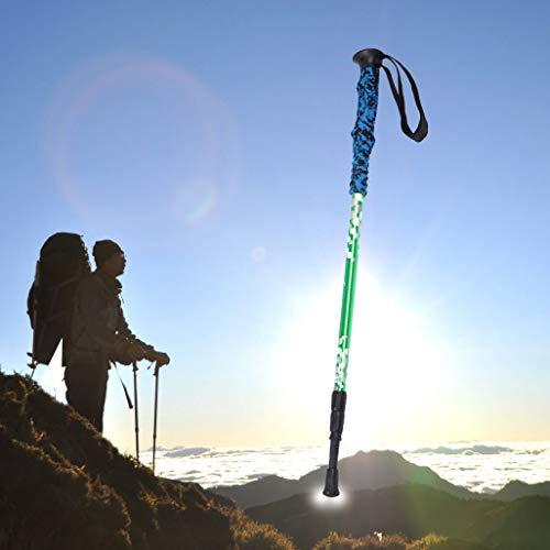 T1 135cm altura portátil ajustable al aire libre de aluminio bastones de trekking